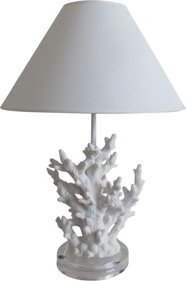 Earth de Fleur Homewares - Table Lamp White Coral Set 2