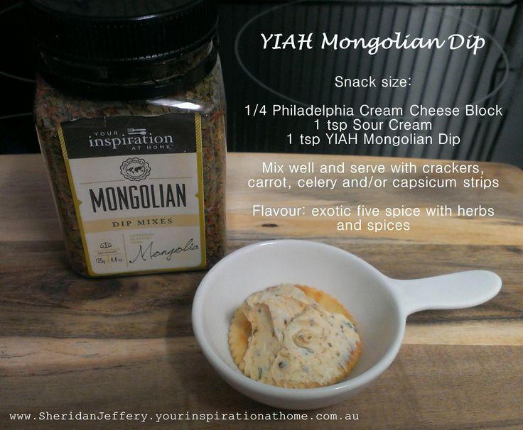 YIAH Mongolian Dip Your Inspiration at Home www.SheridanJeffery.yourinspirationathome.com.au https://www.facebook.com/YIAHConsultantSheridanJeffery