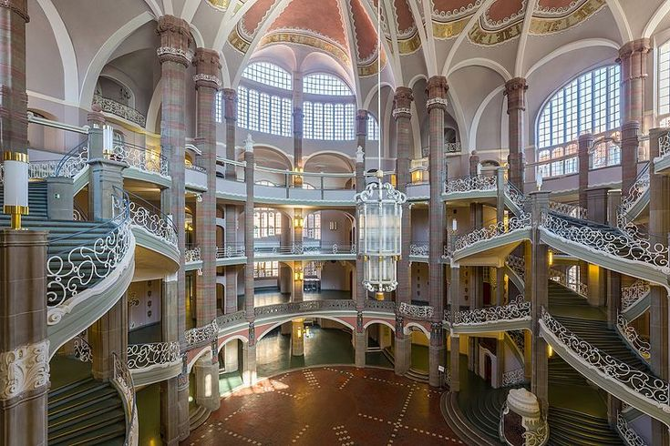 Entrance hall of the regional court of Berlin located in Littenstrasse 12-17 in Berlin-Mitte. This photo took first place in world's largest photo contest, Wiki Loves Monuments 2016.