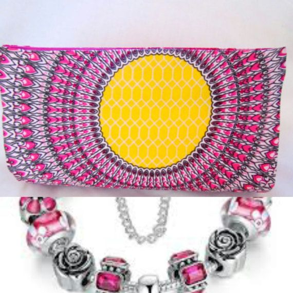 Boho Clutch Hot Pink Purses Pink Floral by ICreationsBoutique