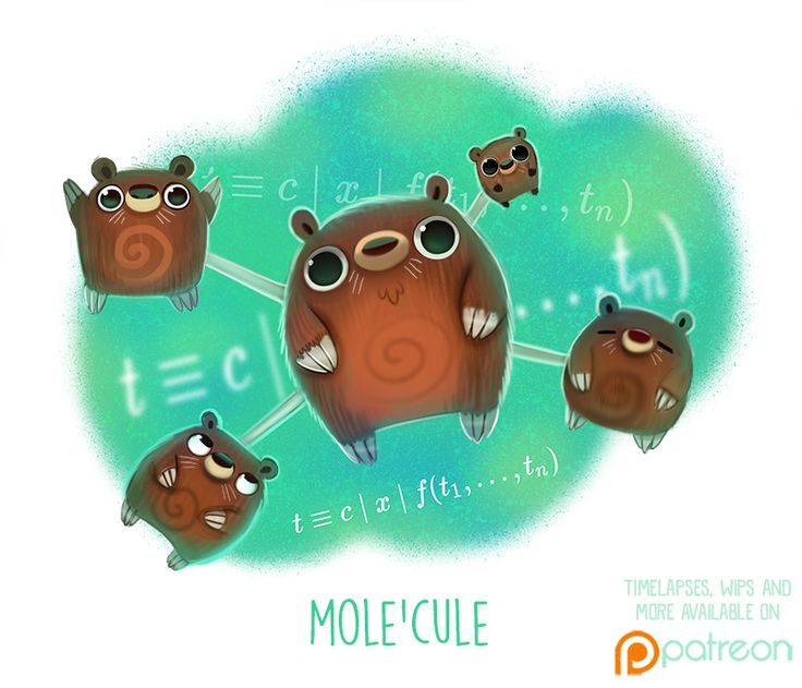 Daily Paint 1505. Mole'cule by Cryptid-Creations on DeviantArt