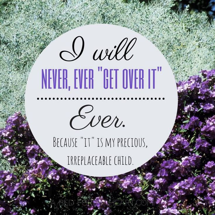 """I will never, ever """"get over it"""" ever. Because """"it"""" is my precious, irreplaceable child, Emmett"""