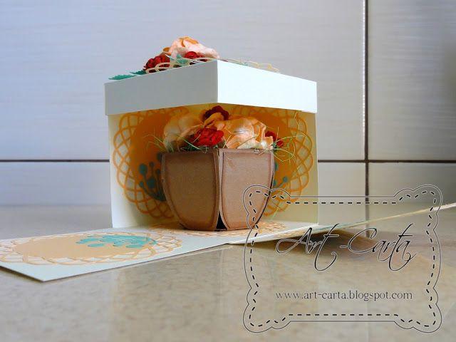 Art-Carta : Mały box z kwiatami