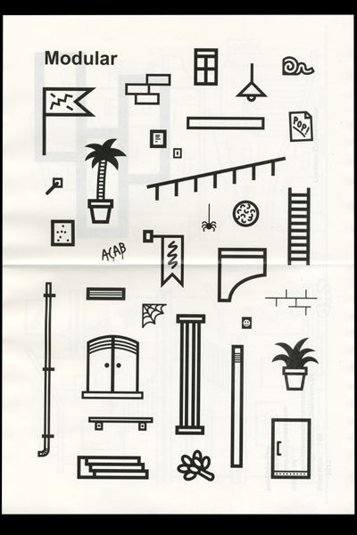 Zine - Modular wonderful zine from Lorenzo Zimmermann, printed and published by SUB Press! <3