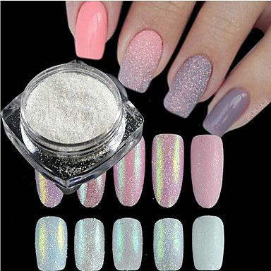 1 Bottle New Fashion Sweet Style Candy Colors Nail Art DIY Glitter Sugar Coating Powder Holographic Pigment Manicure Beauty Shining Decoration TY01-05 – USD $ 0.99
