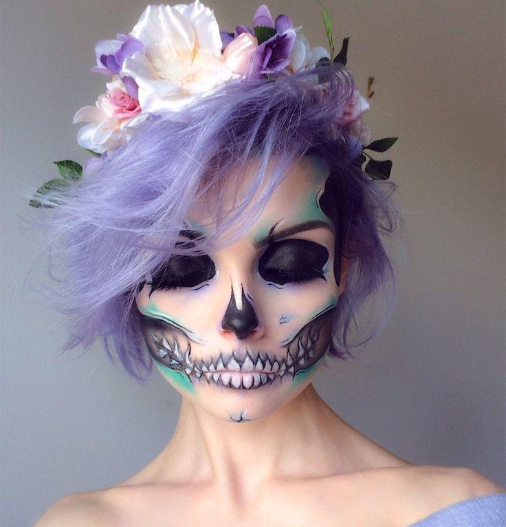 tuto-maquillage-Halloween-couleurs-pastel-Santa-Muerte