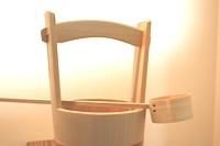 江戸てきロハス - 桶栄 手桶(柄杓付)