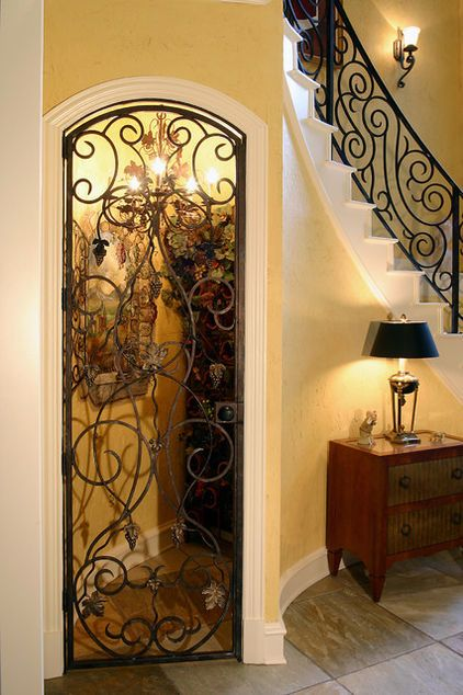 Custom Bar with Wrought Iron Cellar Door - traditional - wine cellar - charleston - by Hostetler Custom Cabinetry & 23 best Ideas for the House images on Pinterest | Cellar doors Iron ...