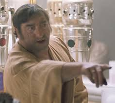 This guy goes by the name Wuher, and he's most notable for being the bartender of the Mos Eisley Cantina on Tatooine in Star Wars: A New Hope. His prejudice towards droids is made very apparent when he refuses them entry into the cantina, and it may be reminiscent of the older days, when we as a species were segregated based on the pigment of our skin