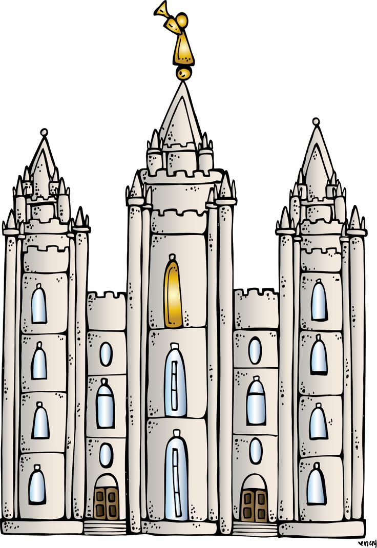Melonheadz LDS illustrating: I Love to see the temple coloring page, and Salt Lake City Temple