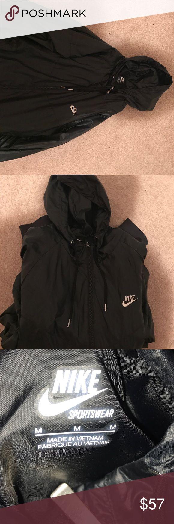 Waterproof Nike jacket EUC Black waterproof Nike jacket. Size M. The jacket has barely been worn. lululemon athletica Jackets & Coats