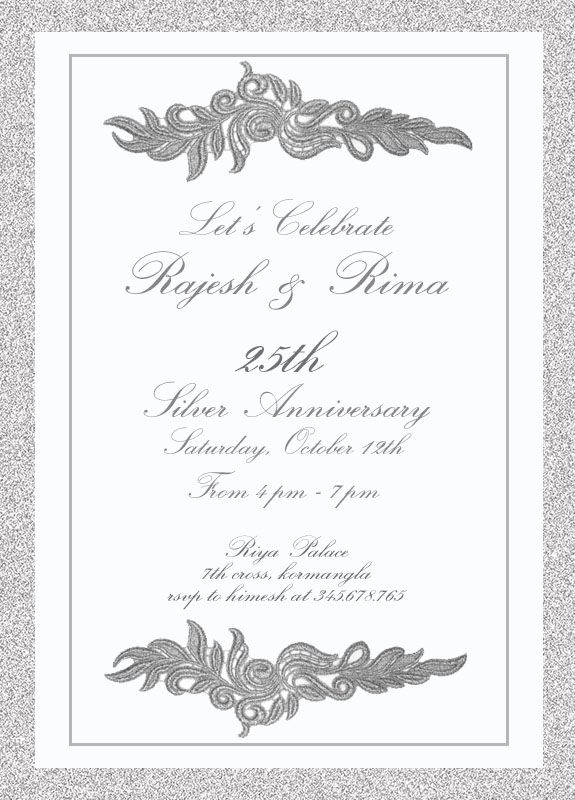 Best Th Silver Wedding Anniversary Invitation Wordings Images - Birthday invitation in words