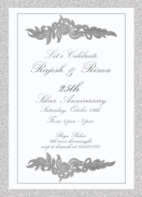 22 best 25th silver wedding anniversary invitation wordings images 25th wedding invitation with words anniversary stopboris Image collections