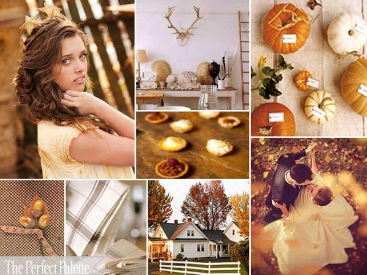 The Perfect Palette: {Fall Farmhouse}: A Palette of Burnt Orange, Orange, Latte, Antique Gold + White