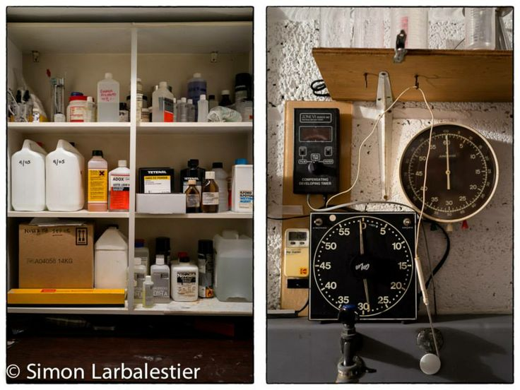 Analogue and digital timers and all the chemistry © Simon Larbalestier