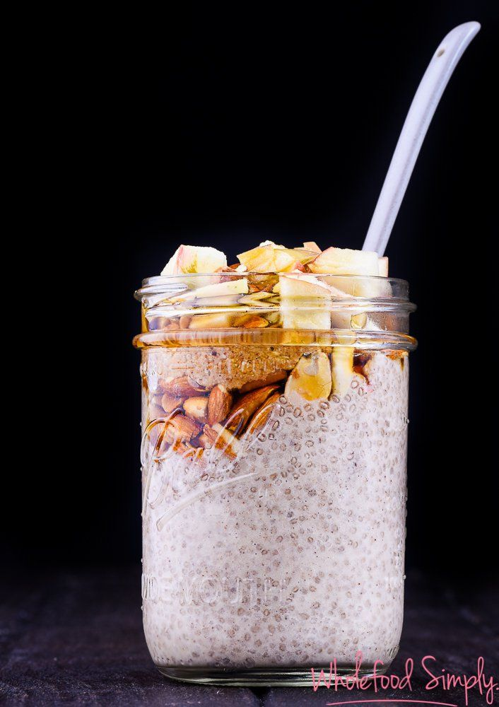 Shake And Make Apple Pie Jars. Quick, simple and delicious!  Free from gluten, grains, dairy, eggs and refined sugar.  Enjoy!