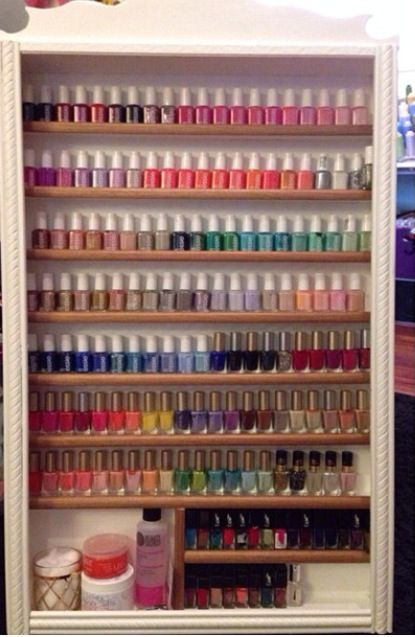 Nail Polish Storage.. feel like i might need something like this in the near future.. getting so many colors added to my collection.