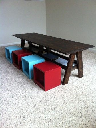 First Project Double Trestle Play Table Dining Room