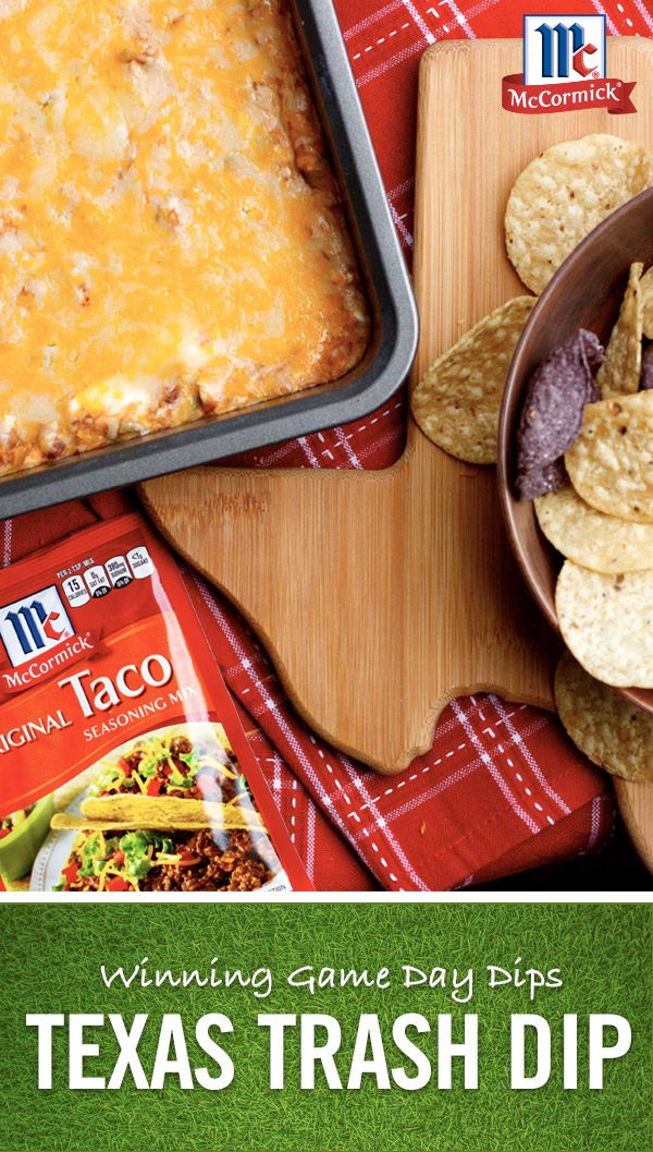 Stop the search! You've found the ultimate ooey, gooey, cheesy football party dip that's sure to be all the rage for the big game. Just add McCormick Taco Seasoning mix for easy flavor in minutes.