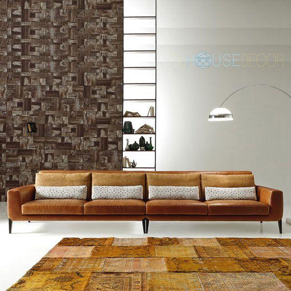Four Seater Leather Sofa   Italian Design   Miller L. By Ditre Italia