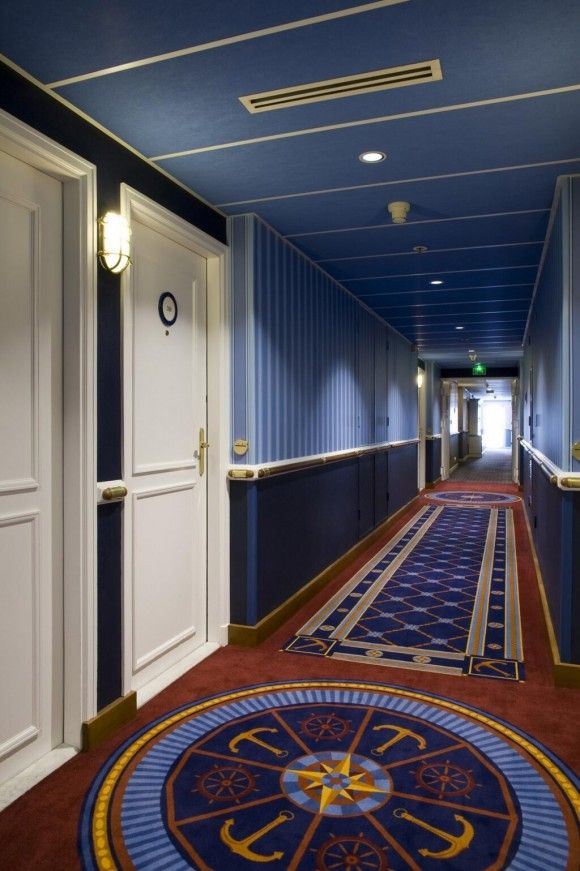 Newly Renovated Corridor at Disney's Newport Bay Club Hotel with thedreamtravelgroup.co.uk