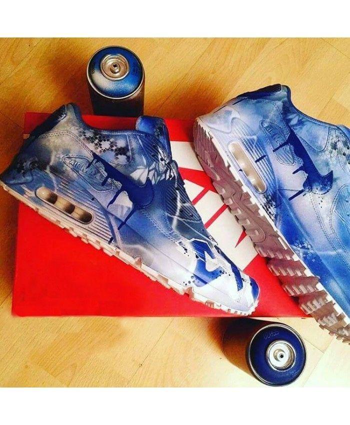 Nike Air Max 90 Candy Drip Print Royal Blue Custom Trainer