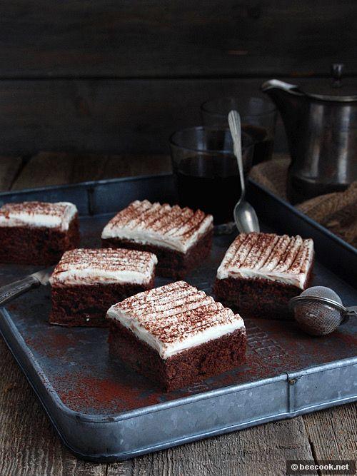 Шоколадно-йогуртовый бисквит