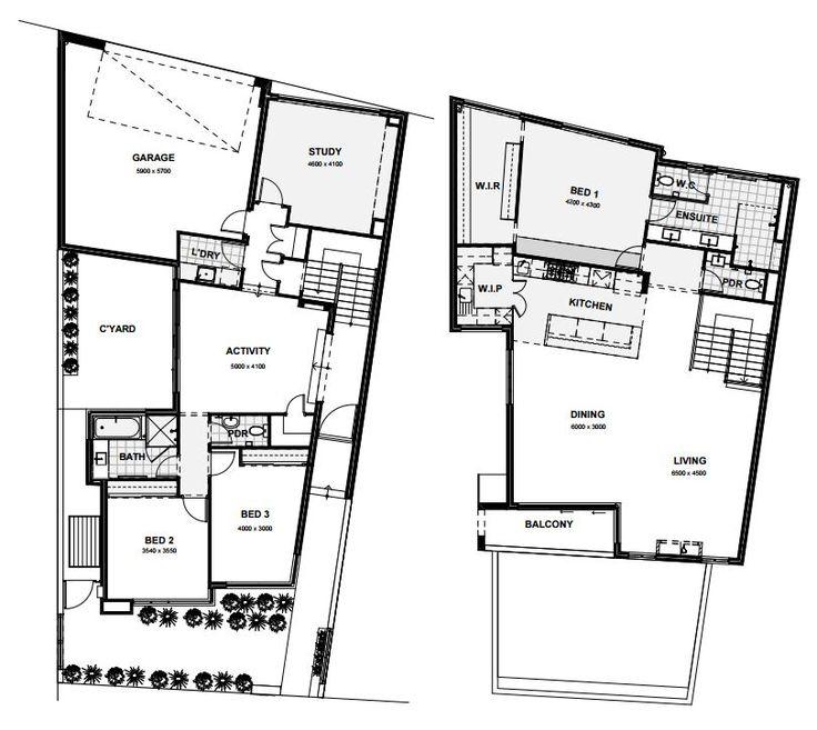 27 best reverse living house designs australia images on for Upside down beach house plans