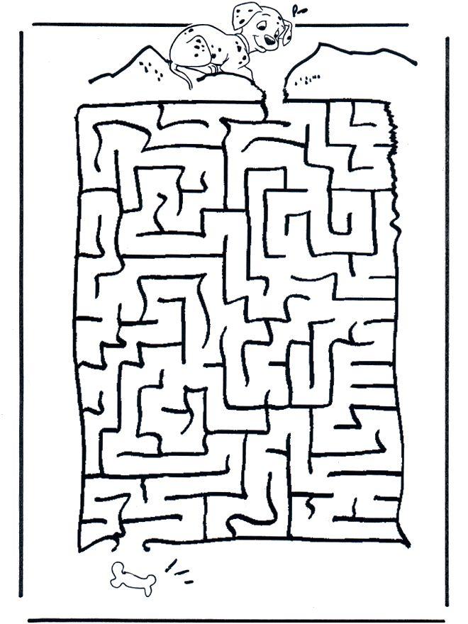 free printable dalmation maze