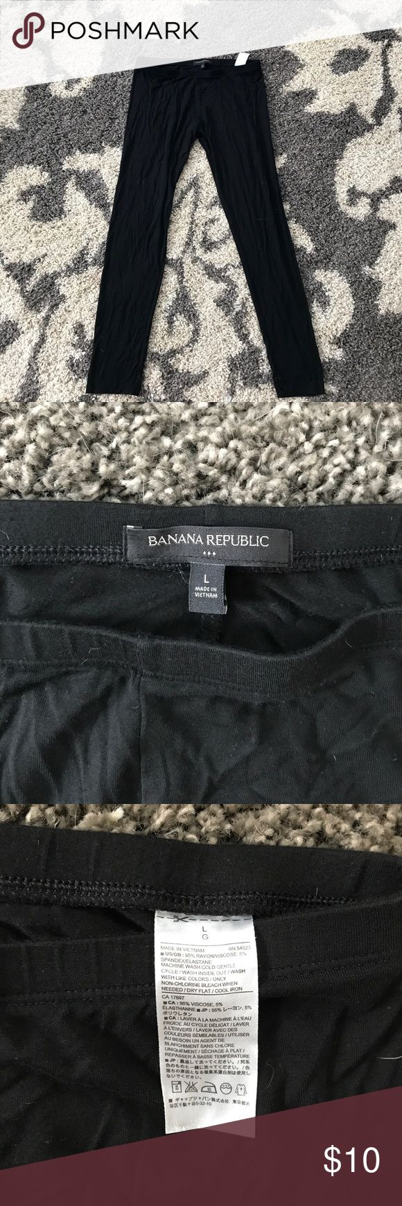 Banana Republic leggings Spandex/elastic leggings from BR, size Large. Worn once. Not a very thick material, best used for loungewear and under a dress or tunic. Banana Republic Pants Leggings