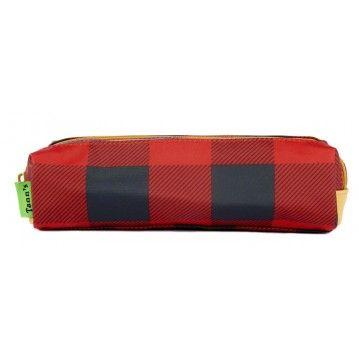 Trousse Tann's Rouge Bucheron ! http://www.squaredesaccessoires.com/cartable-tann-s/5367-trousse-double-tann-s-rouge-heritage--3662498006017.html