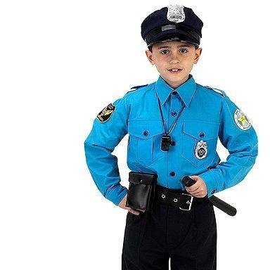 kids junior police suit costume