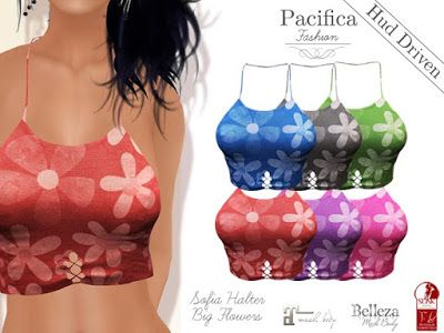 Opening of Pacifica Fashion in Second Life, a virtual world. Feel fabulous, feel feminine, enhance your beauty with mesh clothes for your Virtual Life.