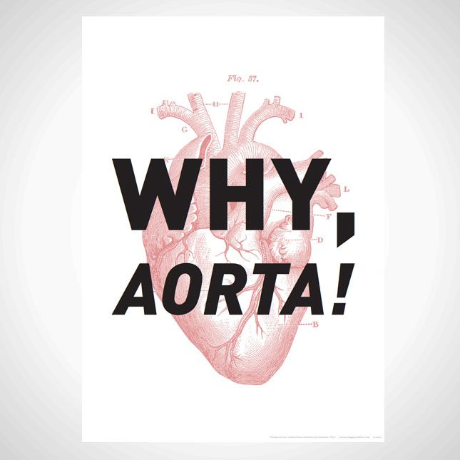 Why, aorta! This print is perfect for your Valentine's Day gallery wall.