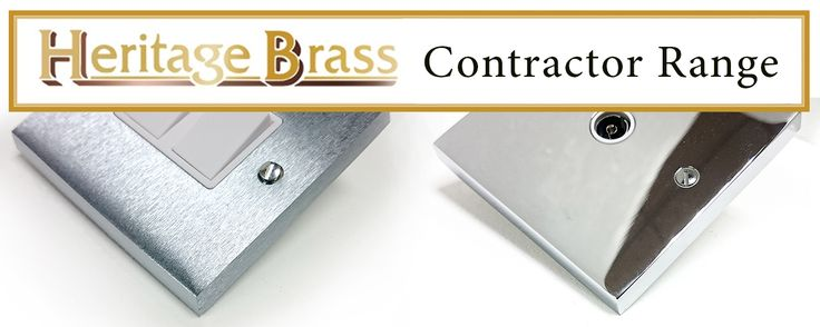 We've added the Polished Chrome and Satin Chrome Contractor Range from Heritage Brass.