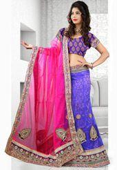 Light Purple Net Lehenga Choli with Dupatta