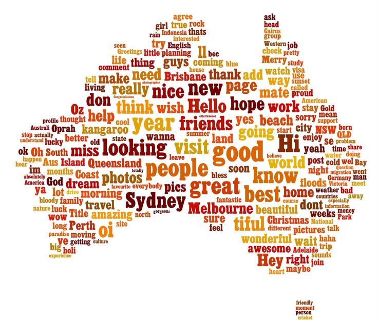 Map of Australia, I'll be touring through Melbourne.