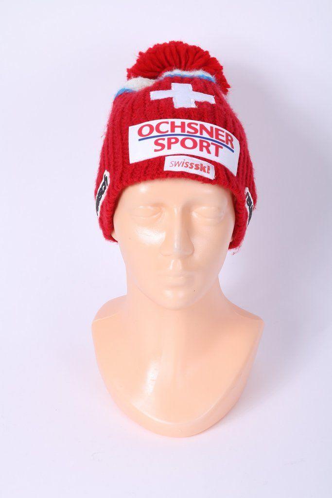 3d797ae8c0a Reusch Mens One Size Beanie Hat Red Sport Swiss Ski