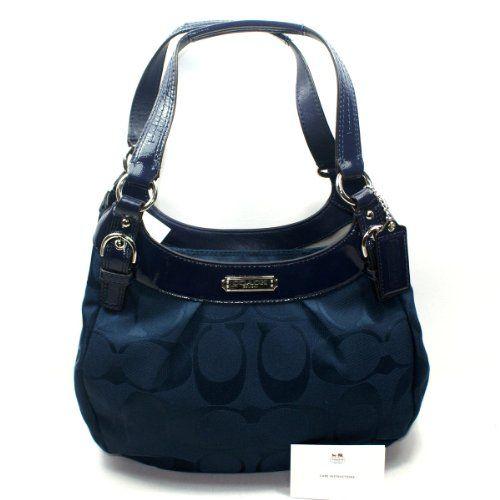 Coach Soho Signature Hobo/ Shoulder Bag Navy « Clothing Impulse