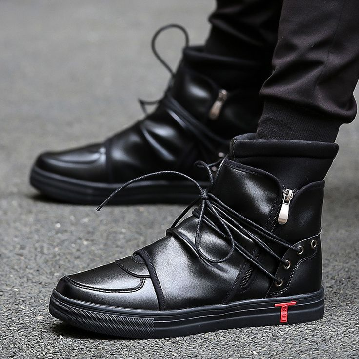 ==> [Free Shipping] Buy Best 2017 Hip hop rock Men Shoes Fashion kanye west Boots Autumn soft Leather Footwear High Top Casual Shoes Superstar white black Online with LOWEST Price | 32811372714
