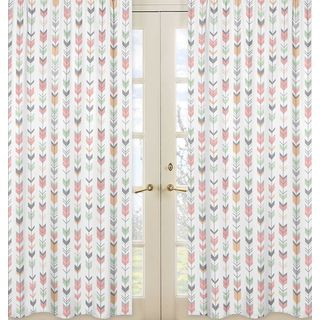 Shop for Sweet Jojo Designs Coral and Mint Mod Arrow Collection Window Panels. Get free delivery at Overstock.com - Your Online Nursery Decor Shop! Get 5% in rewards with Club O!