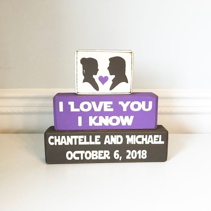 Star Wars wedding, I love you I know, Han Solo and Princess Lea, personalized wedding sign, geek wedding, Star Wars theme wedding, wood sign