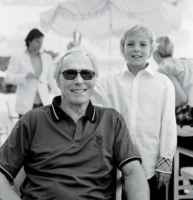 Clint Eastwood is so cool that even his fans pull out the Burberry to prank him! Photos: The 2013 Hollywood Portfolio | Vanity Fair