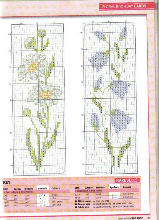 Gallery.ru / Фото #22 - Cross Stitch Card Shop №36 - 19Edinorog8 Daisy bookmark & Bluebell bookmark