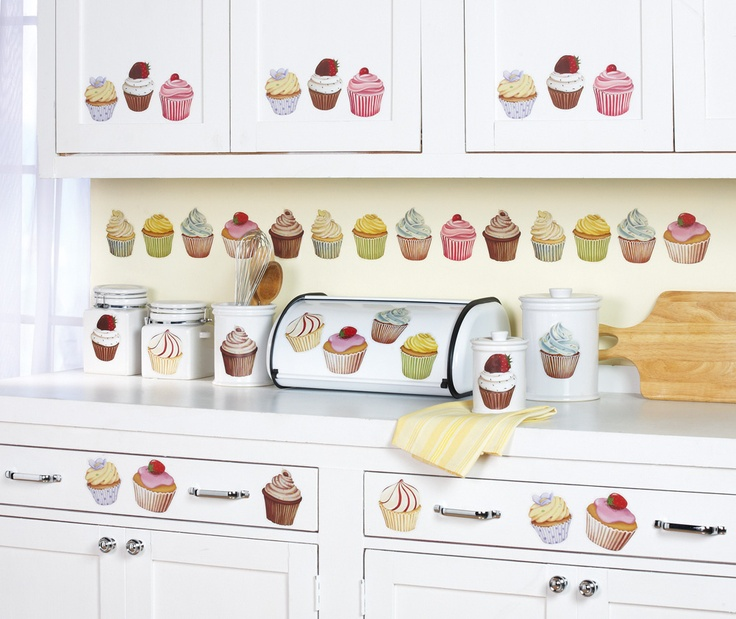 Cupcake Kitchen Removable Wall Stickers $9.99