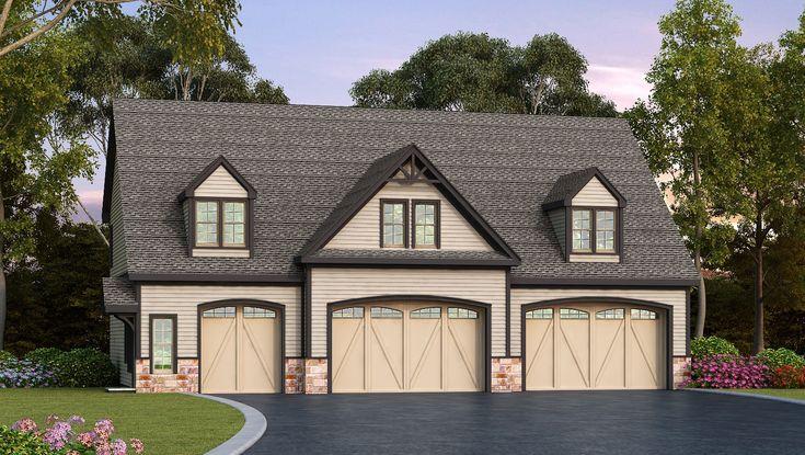 Plan 29870rl Residential 5 Car Detached Garage Plan Garage Plans Detached Carriage House Plans Carriage House Garage