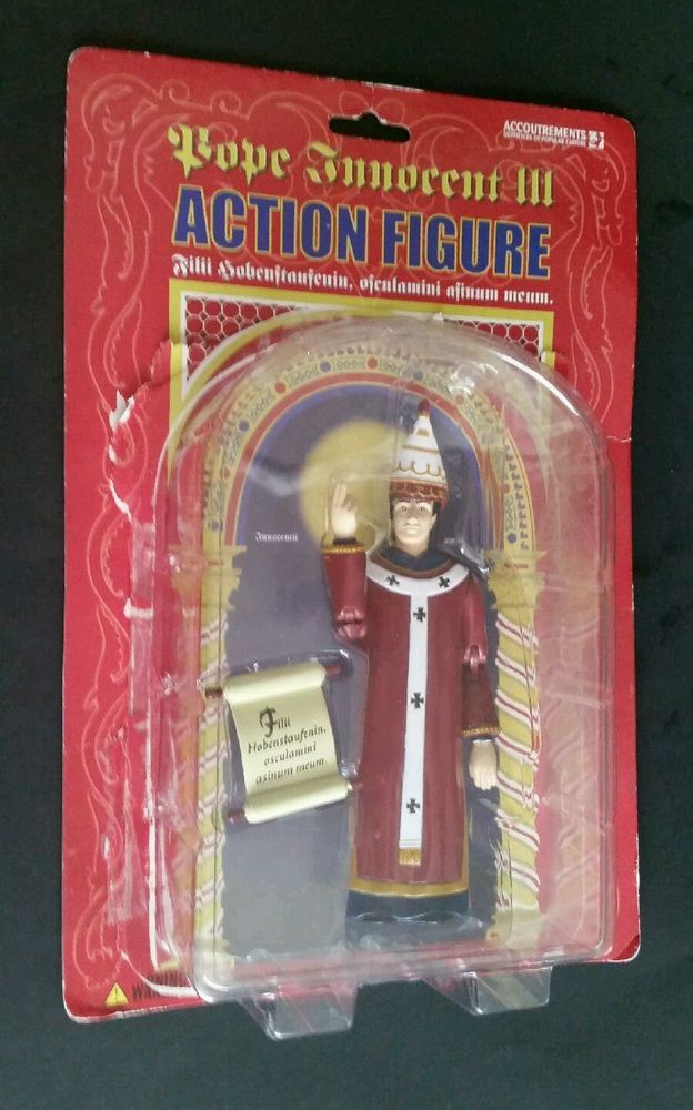 POPE INNOCENT III ACTION FIGURE 2003 ACCOUTREMENTS #11147 WITH PACKAGING #Accoutrements