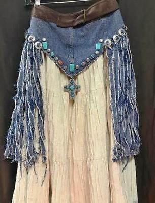 Interesting idea....Western-Skirt-Cover-Upcycle-Creation-Unique-Design-Hippy-Boho-accents