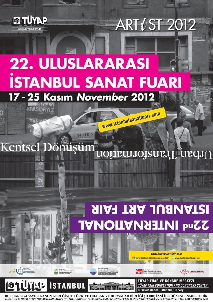 TÜYAP Tüm Fuarcılık Yapım A.Ş. tarafından 17-25 Kasım 2012 tarihleri arasında TÜYAP Fuar ve Kongre Merkezi-Büyükçekmece'de düzenlenecek olan ARTİST 2012 / 22. Uluslararası İstanbul Sanat Fuarı, sanatseverlerin karşısına çıkmaya hazırlanıyor.