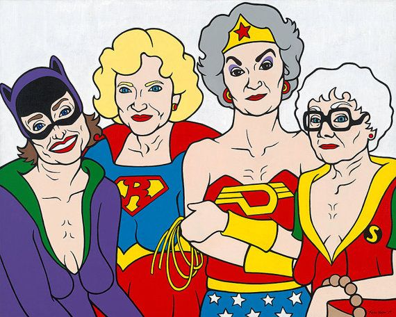 Hey, I found this really awesome Etsy listing at https://www.etsy.com/listing/255406367/golden-girls-superheroes-signed-prints